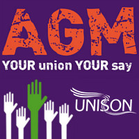 Branch AGM Wednesday 31 January 12:00 p.m. in 3D06