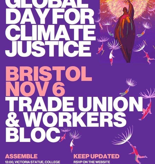 Bristol COP26 Climate Demonstration – Saturday 6 November